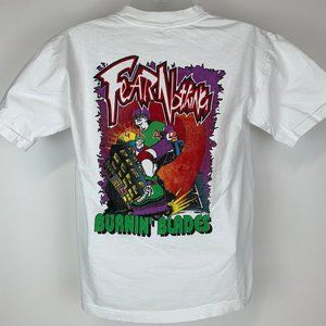 Vintage Fear Nothing Burning Blades Large T-Shirt
